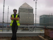 Andy after installing CCTV 32 floors up!